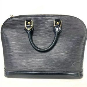 LOUIS VUITTON EPI BLACK ALMA PM ENTRUPY AUTHENTIC